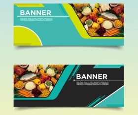 Gourmet banner template design vector