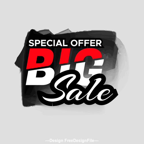 Gray background sale labels vector