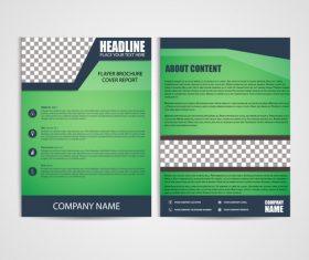Green Brochure Design vector