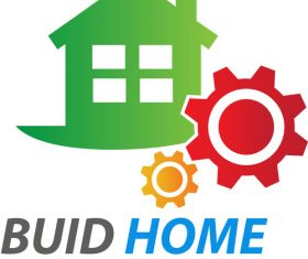 Green Buid Home Logo vector