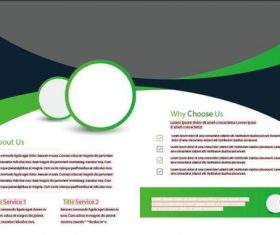 Green and Black Stripe Bifold Brochure vector