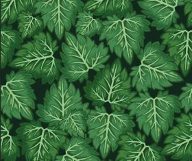 Green leaves background seamless pattern vector