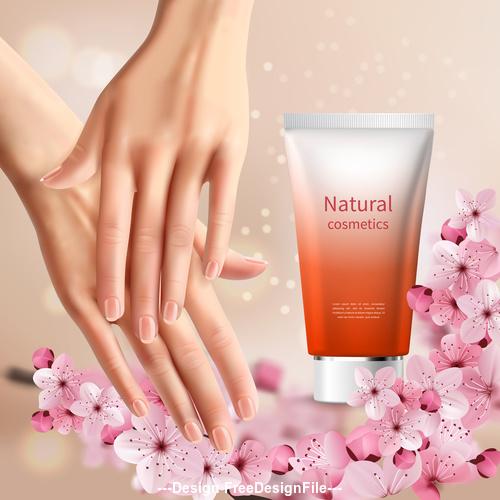 Hand cream sale design template vector