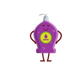 Hand sanitizer bottle expression cartoon vector