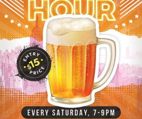 Happy Hour Promotion psd template