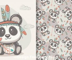 Happy cartoon seamless pattern vector