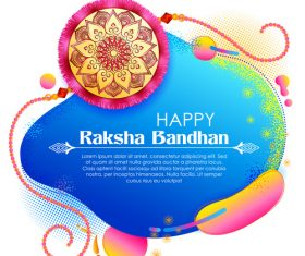 Happy raksha bandhan vector