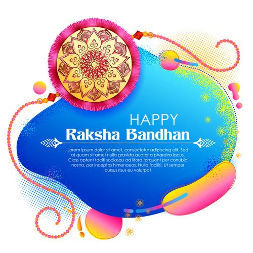 Happy raksha bandhan vector