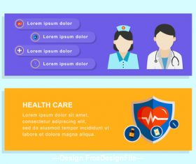 Health care banner design vector