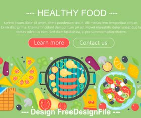Healthy food modern flat design concept vector
