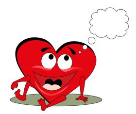 Heart cartoon and dialog vector