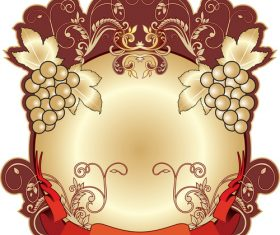 Heraldic background vector