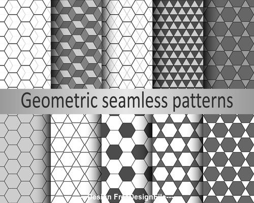 Hexagonal diamond seamless pattern vector