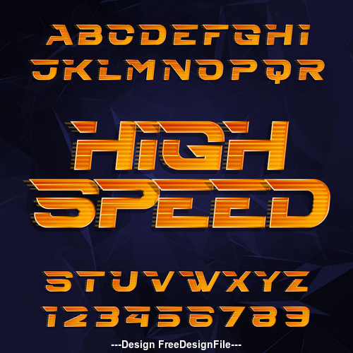 Highspeed font vector