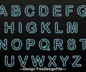 Hollow font vector