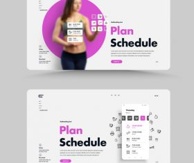 Homepage of the gym website vector