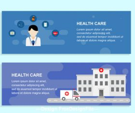 Hospital and doctor banner design vector