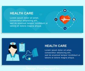 Hospital nurse banner design vector