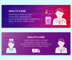 Hospital promotion banner design vector