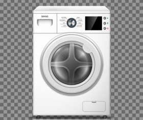 Household washing machine vector