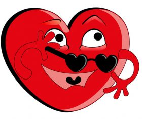 Humorous heart vector