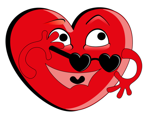 Humorous heart vector
