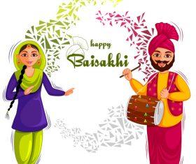 India cartoon cestival celebration vector