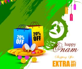 India onam sales activities vector