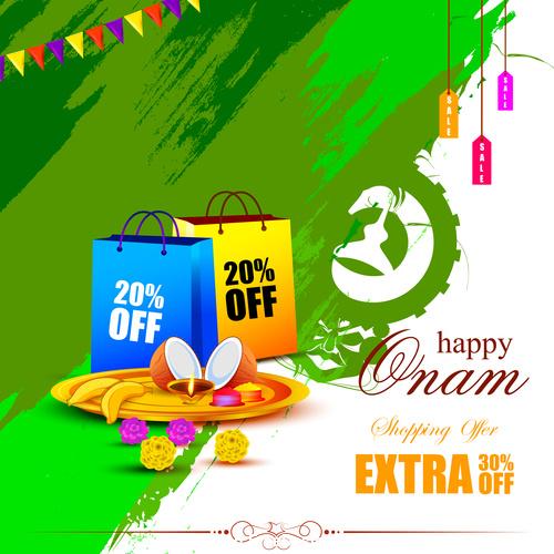 India onam sales activities vector