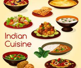 Indian casein vector