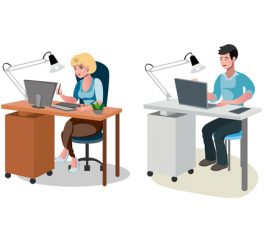 Internet chat for men and women vector