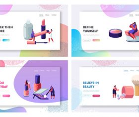 Isometric vector illustration female cosmetics vector