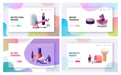 Isometric vector illustration female cosmetics vector