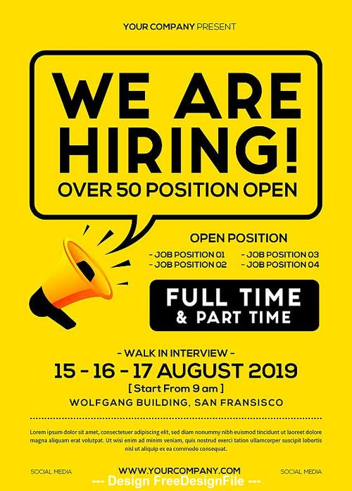 Job Vacancy Flyer Psd Template Free Download