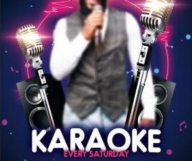 Karaoke psd flyer psd template