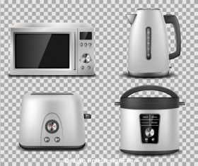 Kitchen household appliances vector