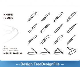 Knife outline vector