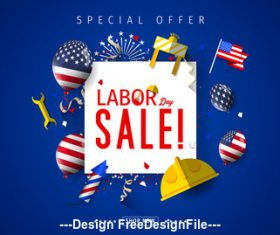 Labor day Promotion design vector