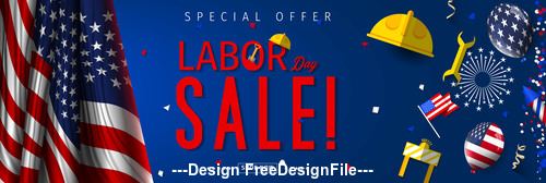 Labor day Special sale design vector