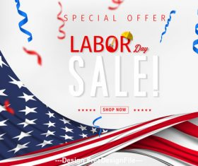 Labor day sale design vector