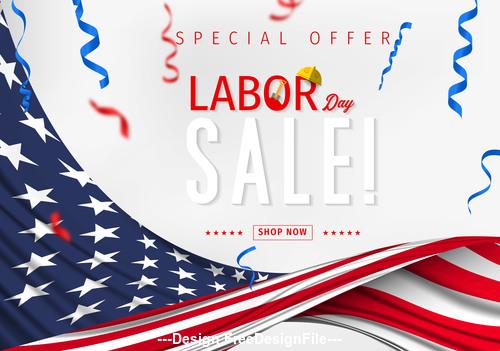 Labor day sale design vector