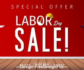 Labor day sale illustration vector