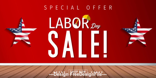 Labor day sale illustration vector