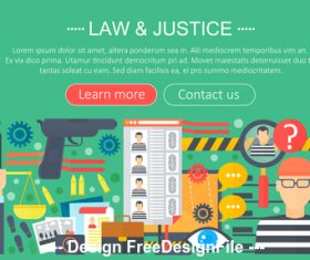 Law flat design concept vector