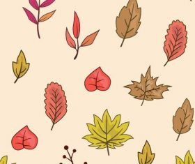 Leaf background pattern vector