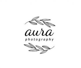 Leaf photography logo vector