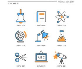 Learn education abstract icon vector