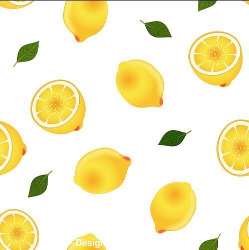 Lemon background seamless pattern vector