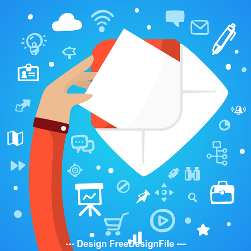Letter concept infographics vector