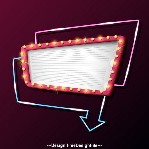 Light Frame Signboard vector